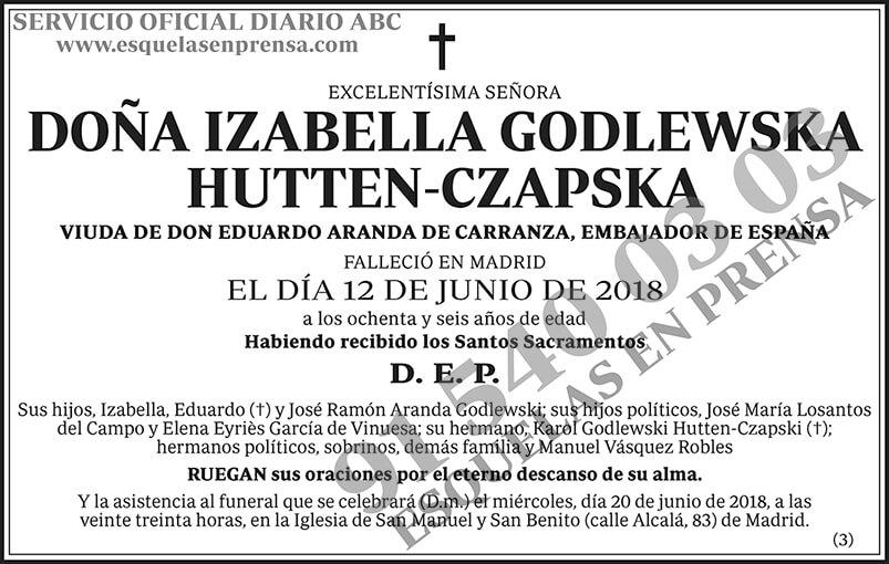 Izabella Godlewska Hutten-Czapska